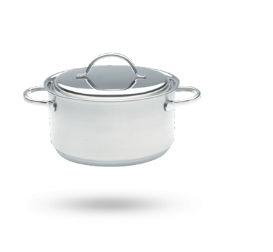 Demeyere Resto casserole pot with lid