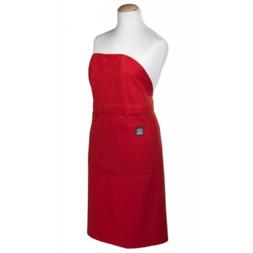 Apron red front