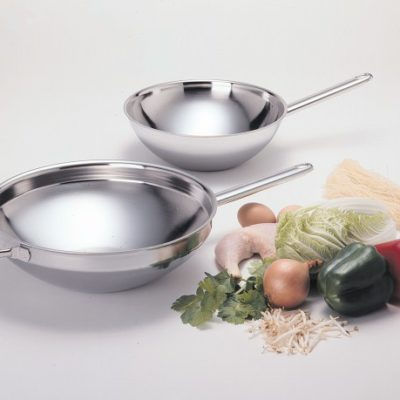 Demeyere flat bottom woks