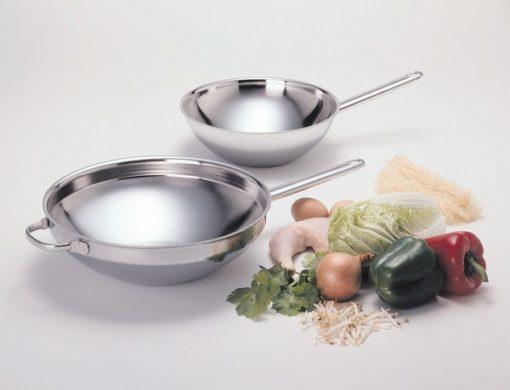 Demeyere flat bottom woks